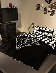 Cool black duvet cover Sets 100% Cotton Bedding Set Queen/Double/Full Size