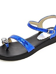 Women's Shoes Platform Toe Ring / Gladiator Sandals Outdoor / Dress / Casual Black / Blue / Silver / Gold