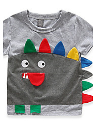 BK  6-12 Y 3D Boys Personalized Print Cotton Cartoon T-shirt Tee Short Sleeve Summer Kids Tops