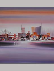 Peint à la main Paysage / Fantaisie / Paysages AbstraitsModern Un Panneau Toile Peinture à l'huile Hang-peint For Décoration d'intérieur