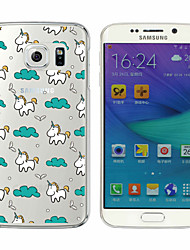 licorne mignon silicone étui transparent soft phone pour samsung galaxy s4 / s5 / S6 / S6 bord / bord S6 Plus