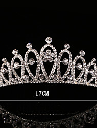 Silver Crystal Crown Hair Combs Hair Jewerly for Wedding Party Lady