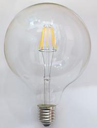 1 PC e26 / e27 7w 8 cob la vendimia blanca caliente de 700 lm g125 edison llevó los bulbos ac 220-240 v del filamento