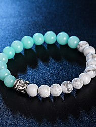 New Arrival 5 Colors Nature Stone Buddha Bracelet Strand Bracelets Daily / Casual 1pc Hot Sale Christmas Gifts