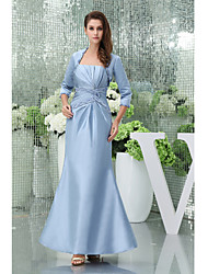 Trumpet / Mermaid Mother of the Bride Dress Floor-length Taffeta with Beading / Draping
