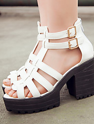 Women's Shoes Split Sole Platform/Gladiator/Open Toe Sandals/Heels Party & Evening/Dress/Casual Black/White