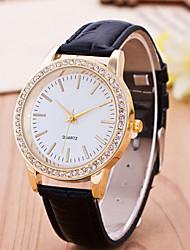Mulheres Relógio de Moda Quartz Relógio Casual Couro Banda Cores Múltiplas marca-