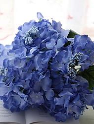 Branch Silk Hydrangeas Tabletop Flower Artificial Flowers