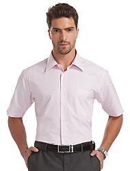 Sieben Brand® Herren Hemdkragen Kurze Ärmel Shirt & Bluse Rosa-E99A307810