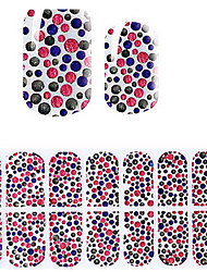 Lovely Pink Korea DIY Diamond 3D Nail Stickers
