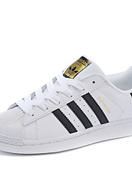 Adidas Originals Superstar Running Shoes Women's Wearproof White / Black Running/Jogging Lace-up Real Leather