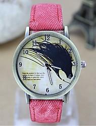 moda de relógio casal relógio de pintura da lona cinto de cowboy relógio de quartzo casuais retro (cores sortidas)