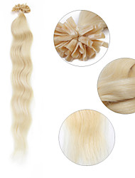 "Neitsi 20"" 1g/s Keratin Fusion U Nail Tip Natural Wave 100% Human Hair Extensions 60#"