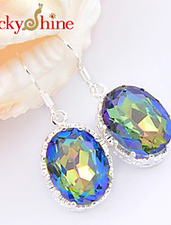 Drop Earrings Crystal Topaz Fashion Geometric Red Blue Jewelry Wedding Party Daily Casual Sports 2pcs