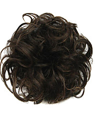 Perücke schwarze Schokolade 6cm Hochtemperatur-Draht-Haarkreis Farbe 2/30