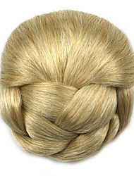 Kinky Curly Gold Lady Human Hair Weaves Chignons 1003