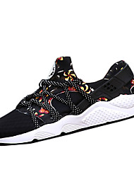 Running Shoes Men's / Unisex Spring / Fall Styles / Round Toe Tulle Black / Red / Gray Sneaker