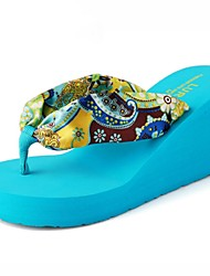 Women's Summer Wedges / Open Toe Synthetic Casual Wedge Heel Blue / Beige