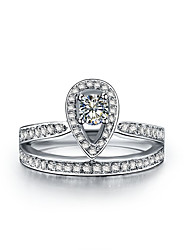 S925 Royal Crown Design 0.25CT Sterling Silver Engagement Ring SONA Diamond Wedding Jewelry Platinum Plated Bridal Gift