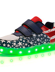LED's Shoes Boys' Shoes Outdoor / Casual Synthetic / Tulle Fashion Sneakers Navy