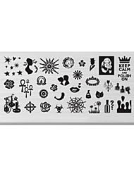 BlueZOO Rectangle Printing Nail Art Stamping (C-024)