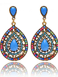Bohemian Beads Full Of Diamond Drops Earrings