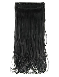 Length Deep Black 60CM High Hemperature Wire Wig Hair Extension Synthetic Hair