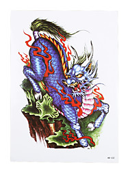 8PCS Waterproof Temporary Tattoo Sticker Kylin Chinese Dragon Patterns Design Sexy Body Sleeve Art Tattoo Popular