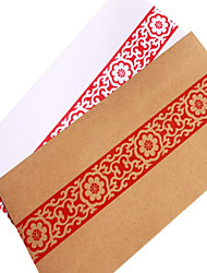 No. 5 red antique old envelopes (random pattern)