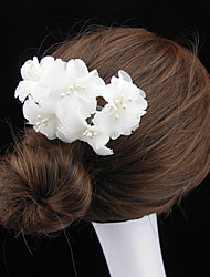 High-Grade Bride Pan Head Inserted Comb Hair Combed Pure Handmade Pearl Flower Comb Hair Accessories 10pcs