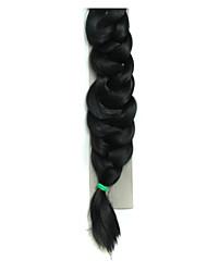 Afro Multiple Color Braid Hair Heat Resistant Fiber Natural Black