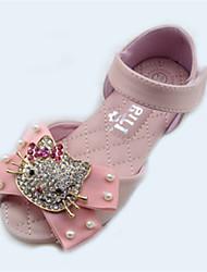 Girls' Shoes Outdoor Microfibre Summer Comfort / Open Toe / Sandals Flat Heel Pink / Ivory
