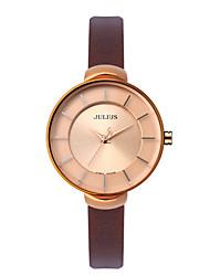 Julius® Women Watch Korea Fashion Waterproof Wristwatch Leather Belt Student Wristwatch JA-638