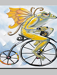Large Hand Painted Cycling For The Chameleon Animal Oil Painting On Canvas Wall Art For Home Decor With Frame 100x100cm