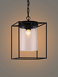 Max 60W Vintage Style Painting Metal Pendant Light Living Room / Bedroom / Dining Room / Kitchen / Study Room/Office