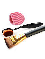 1PCS New Fashion Flat Contour Brushes+ +1PCS Masterclass Oval Foundation Makeup Brush +High Quality Powder Brush