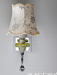 Crystal Lamp Bedside Cloth Shade Aisle Living Room Wall Lamp