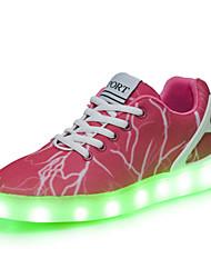 Scarpe Donna-Sneakers alla moda-Tempo libero / Casual / Sportivo-Punta arrotondata-Piatto-Denim-Rosa