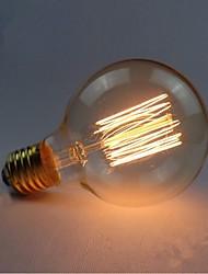 e27 de bulbes 40w soie filament de carbone à incandescence de lumière de g80 autour de la perle