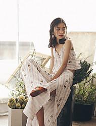 Damen Druck Set - Polyester Ärmellos V-Ausschnitt