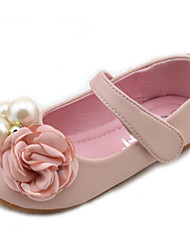 Girl's Spring / Fall Round Toe / Comfort Microfibre Outdoor Flat Heel Black / Pink / Ivory