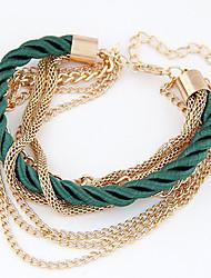 Bracelet Collection personnelle de perle / Chaîne Alliage Sans pierre Femme