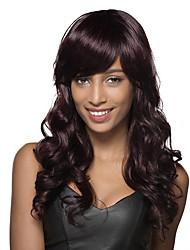 magnifique longue capless vague naturelle de cheveux humains perruque