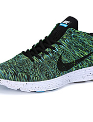 Nike Flyknit Round Toe / Sneakers / Running Shoes / Casual Shoes Men's Wearproof Lace-up / High-Top / Braided Green / Red / Gray