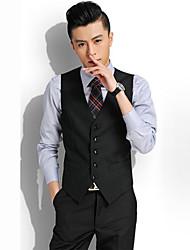 Men's Sleeveless Regular Blazer,Cotton / Acrylic / Polyester Solid 916198