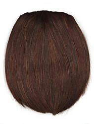 Kinky Curly Brown Straight Human Hair Weaves Chignons 3017