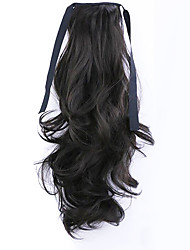 Black Length 50CM Factory Direct Sale Bind Type Curl Horsetail Hair Ponytail(Color 4A)