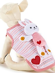 Dog Vest Pink Dog Clothes Summer / Spring/Fall Cartoon Casual/Daily