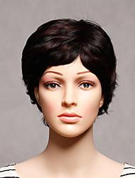 capless curto sintético marrom cor onduladas mulheres sintéticas perucas