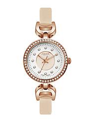 Julius® Women Watch  Rhinestone Design Fashion Vogue Leather Belt Quartz Wristwatch JA-846